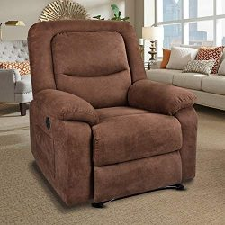 RELAXIXI Power Recliner Chair with Massage, Heat and USB Charge Port – Electric Recliner f ...