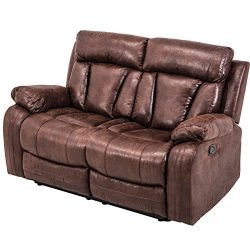 Hooseng, Sectional Loveseat Chaise Couch Sofa Leather Accent Chair Set Manual Recliner Motion fo ...