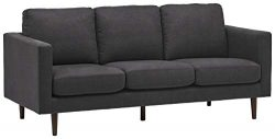 Rivet Revolve Modern Upholstered Sofa Couch, 80″W, Storm Grey