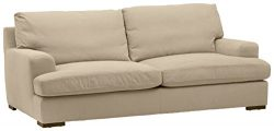 Stone & Beam Lauren Down-Filled Oversized Sofa Couch with Hardwood Frame, 89″W, Fawn