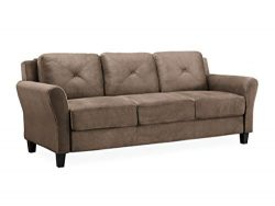 Lifestyle Solutions Collection Grayson Micro-fabric SOFA, 80.3″ x 32″ x 32.68″ ...