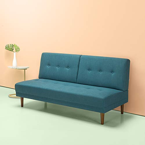 Zinus Juan Mid Century 65 Inch Armless Sofa Living Room Couch Turquoise Gvdesigns Gvdesigns