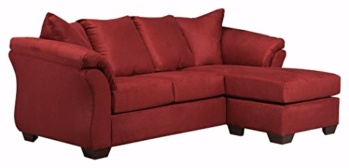 Signature Design by Ashley –  Darcy Microfiber Sofa Chaise, Salsa Red