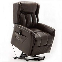 Power Lift Recliner Chair for Elderly, Bonzy Home Living Room Chair with Overstuffed Design, Pow ...