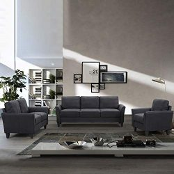 Romatlink 3 Piece Sofa Chair Sectional Sofa Set Living Room Furniture Living Room Sofa, Button T ...