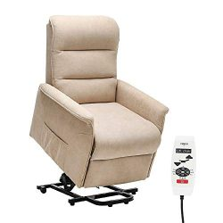 Danxee Power Lift Chair Recliner Massage Heated Reclining Sofa Chair for Elderly Home Living Roo ...