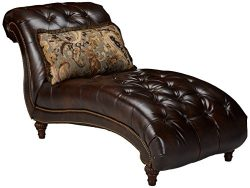 Signature Design by Ashley – Winnsboro Traditional Chaise, Vintage Brown