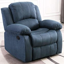 ANJ Recliner Chair Overstuffed Heavy Duty Recliner, Soft Warm Fabric Home Theater Seating – ...