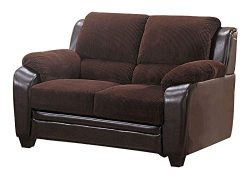Coaster Home Furnishings Monika Stationary Loveseat Chocolate