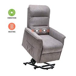 Power Lift Chair Recliner Massage Heated Reclining Sofa Chair for Elderly Home Living Room Furni ...
