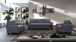 MOOSENG, 3 Pieces Living Room Furniture Set, Button Tufted Sectional Armrest Chairs for Single,  ...