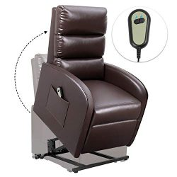 Homall Electric Power Lift Recliner Chair Sofa PU Leather Home Recliner for Elderly Classic Loun ...