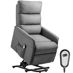 Kealive Lift Chair Recliner for Elderly, Power Electric Recliner with Remote Control, 3 Overstuf ...
