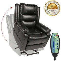 PieDle Electric Power Lift Recliner Chair,Recliners for Elderly, Home Sofa Chairs with Heat & ...