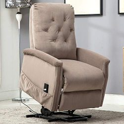 Bonzy Home Power Lift Recliner Chair for Elderly, Overstuffed Cozy Single Sofa for Living Room & ...