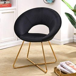 Modern Accent Velvet Chair Single Sofa Comfy Upholstered Arm Chair Living Room Furniture for Kit ...