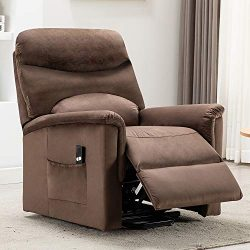 Bonzy Home Power Lift Recliner Chair for Elderly,Living Room Chair with Overstuffed Design,with  ...