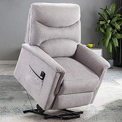 Bonzy Home Power Lift Recliner Chair for Elderly, Overstuffed Cozy Single Sofa for Living Room & ...