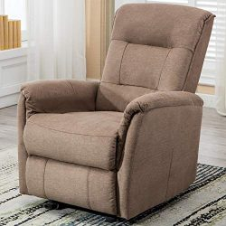 ANJ Rocker Recliner Chair, Single Modern Sofa Home Theater Seating, Manual Reclining Chair for L ...
