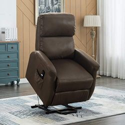 Electric Power Lift Recliner Chair Sofa for Elderly, Bonzy Home Living Room Chair with Overstuff ...