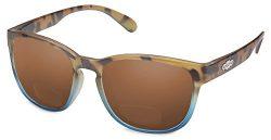 Suncloud Loveseat Polarized Bi-Focal Reading Sunglasses in Matte Tortoise Blue/Brown Lens +2.50