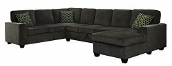 Coaster Home Furnishings Living Room Sectional Sofa, Brown/Black
