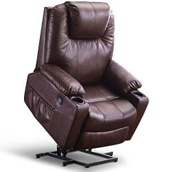 Mcombo Oversized Power Lift Recliner Chair with Massage and Heat for Elderly Big and Tall People ...