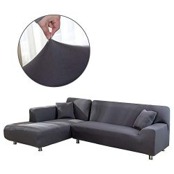 Cepheus L Shape Couch Covers, Anti-Slip Stain Resistant Sectional Slipcovers, Stretch Elastic Fa ...