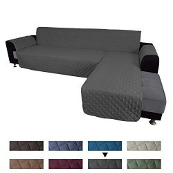 Easy-Going Sofa Slipcover L Shape Sofa Cover Sectional Couch Cover Chaise Lounge Slip Cover Reve ...