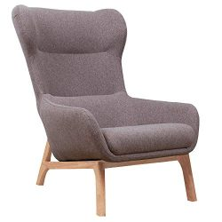 Irene House Contemporary Velvet Fabric Height Back Accent Chair,Living Room,Bedroom Arm Chair (L ...