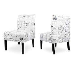 AODAILIHB Armless Accent Chair Modern Fabric Printing Leisure Chair Single Sofa Deco Living Room ...