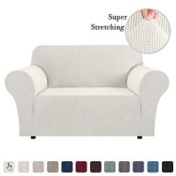 High Stretch Sofa Cover 1 Piece Couch Covers, Lounge Covers for 2 Cushion Couch, Sofa Slipcover  ...