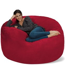 Chill Sack Bean Bag Chair: Giant 5′ Memory Foam Furniture Bean Bag – Big Sofa with S ...