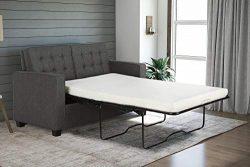 Signature Sleep Alvaro Twin-Size Sofa Sleeper, Perfect for Small Spaces, Grey Linen