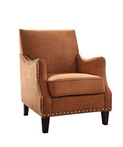 ACME Sinai Orange Fabric Accent Chair