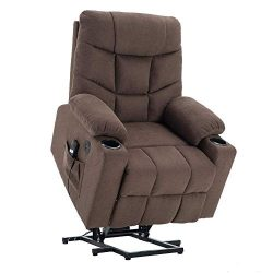 Power Lift Recliner Chair TUV Lift Motor Lounge w/Remote Control Dual USB Charging Ports Cup Hol ...
