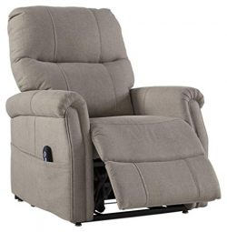Signature Design by Ashley 3500212 Markridge Power Lift Recliner, Gray
