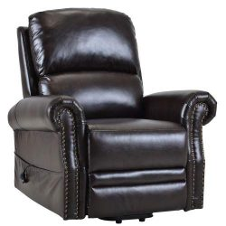 Merax New Model Recliner Power Lift Chair PU Leather, Dark Brown