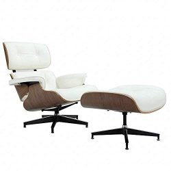 Mid Century Modern Lounge Chair with Ottoman,Mid Century Recliner Chair – High Grade Leath ...