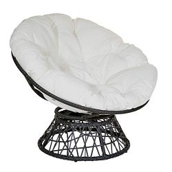 OSP Designs Papasan Chair, White