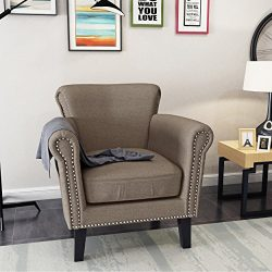 Christopher Knight Home Brice-Ch. Arm Chair, Light Coffee + Dark Brown