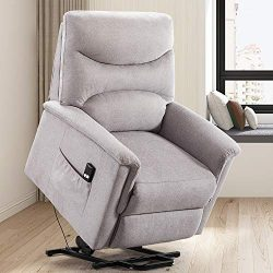 Power Lift Recliner Chair – Overstuffed Reclining Chair Electric Lift Chair for Elderly (L ...
