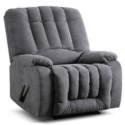 Manual Recliner Chair – Overstuffed Recliner Reclining Chair Pull Recliner Sofa, Contempor ...