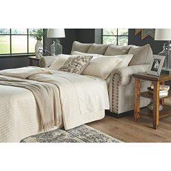 Signature Design by Ashley – Memory Foam Queen Mattress Sofa Sleeper, Jute