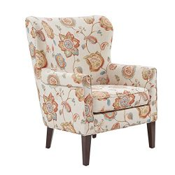 Madison Park Colette Accent Chairs-Hardwood, Plywood, Wing Back Living Armchair Modern Classic S ...