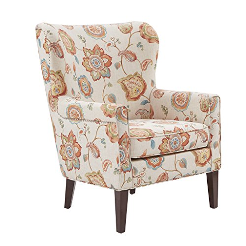 Madison Park Colette Accent Chairs-Hardwood, Plywood, Wing