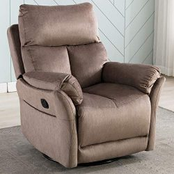 ANJ Swivel Rocker Recliner Chair – Reclining Chair Manual, Single Modern Sofa Home Theater ...