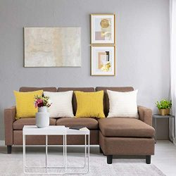 Shintenchi Sectional Sofa Couch Convertible Chaise Lounge, Modern Sofa Set for Living Room, L-Sh ...