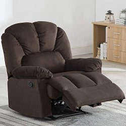 Fabric Recliner Chair, Bonzy Home Self-adjusting the Backrest and Footrest, Living Room Chair wi ...