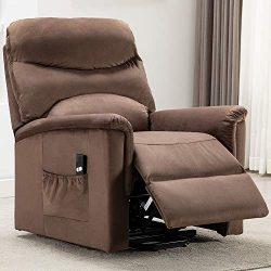 Power Lift Recliner Chair – Overstuffed Reclining Chair Electric Lift Chair for Elderly (L ...
